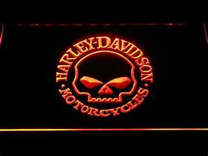 Harley Davidson Skull LED Neon Sign