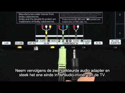 led tv aansluiten component kabel youtube