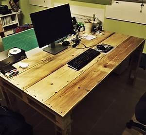 Schreibtisch Selbst Bauen : schreibtisch aus paletten selbst gebaut mit anleitung ~ A.2002-acura-tl-radio.info Haus und Dekorationen