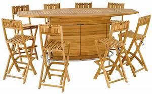 table de bar teck With ordinary table pliante de jardin leroy merlin 2 salon de jardin table et chaise mobilier de jardin