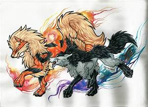 Collab: Arcanine and Mightyena by Napoisk on DeviantArt