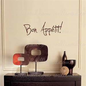 bon appetit wall decal vinyl sticker quote kitchen decoration With kitchen colors with white cabinets with bon appetit wall art