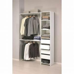 Caisson Dressing Pas Cher : skirt kit placard contemporain blanc l 141 cm achat ~ Premium-room.com Idées de Décoration