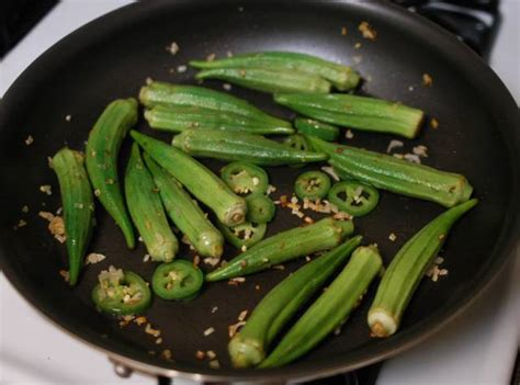 how to cook okra sauteed okra with roasted red peppers recipe file cooking for engineers