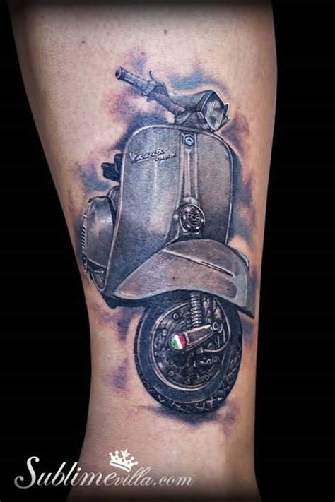 vespa scooter tattoos