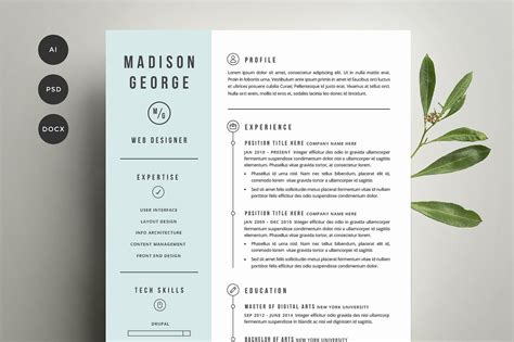 20299 creative resume formats resume cover letter template resume templates