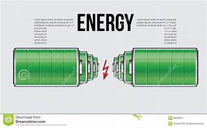 Battery Element Infographic Template  Design Concept For