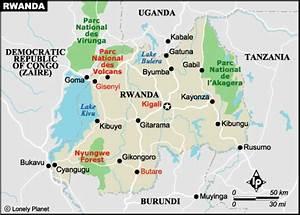 Rwanda National Map