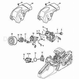 Stihl Ms 231 Chainsaw  Ms231c  Parts Diagram  Air Baffle