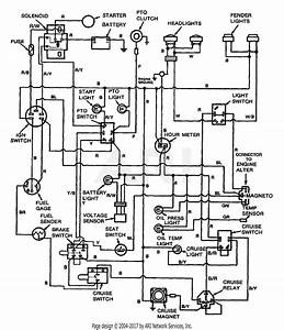 Troy Bilt 13062 20hp Hydro Garden Tractor  S  N 130620100101  Parts Diagram For Wiring Diagram