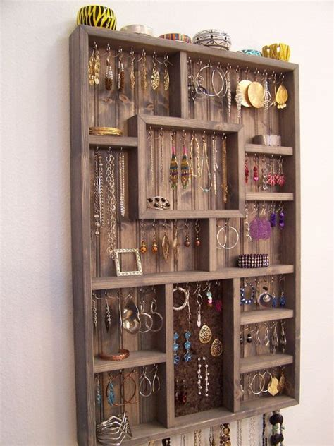 large wall jewelry display case