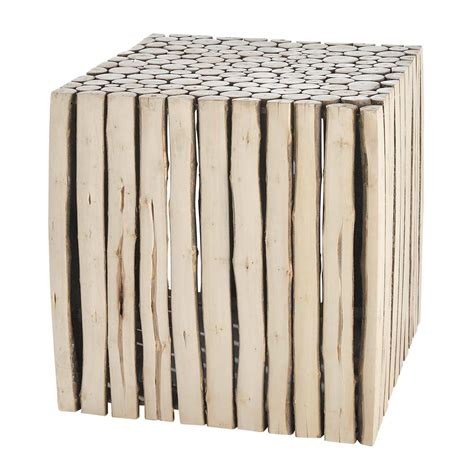 bout de canape bois bout de canapé en bois l 38 cm rivage maisons du monde