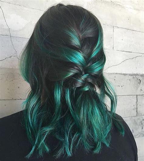 ideas  el color del cabello verde peinado  todos