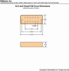 Complete Dimarzio Pickup Routing Specs  Wiring Diagrams