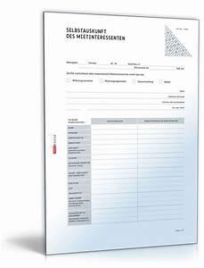 Was Ist Selbstauskunft : selbstauskunft eines mietinteressenten muster vorlage ~ Lizthompson.info Haus und Dekorationen