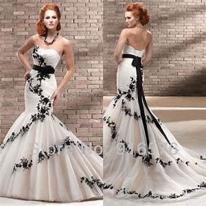 Enchanting black and white mermaid wedding dresses for Low back corset for wedding dress