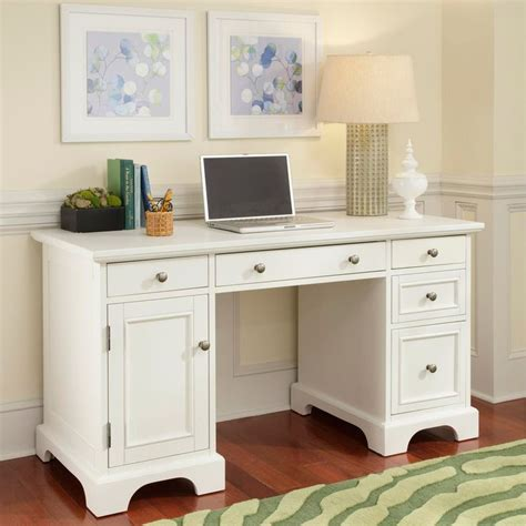 white pedestal desk with naples white finish pedestal desk by home styles by home