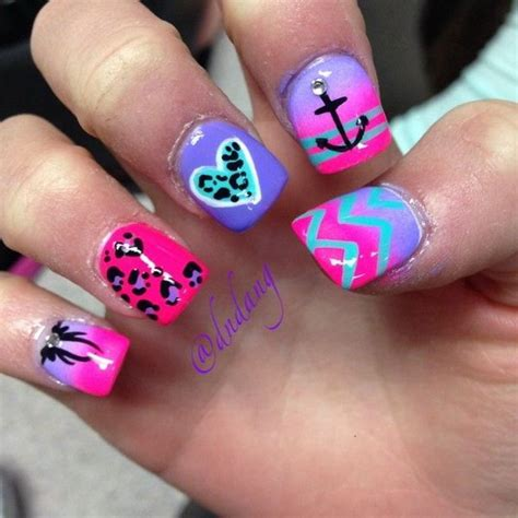 pretty neon nail art designs   inspiration noted list