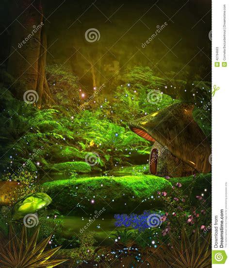 magic forest stock illustration image