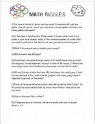 Math Should Never Be Boring More Math Brain Teasers Free Printable Pictures Math Riddle Worksheet Book Secret Code Math Car Pictures Multiplying Fractions Math Riddle Worksheet Math Riddle Book Puzzle Worksheets That Teach Math