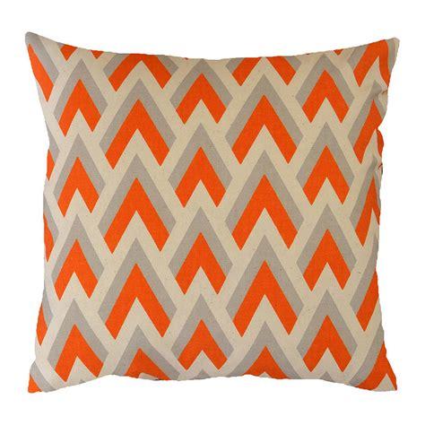 Orange Cusions by Orange Arrow Geometric Cushion By Hunkydory Home