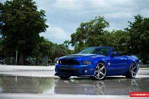 Convertible Electric Blue Ford Mustang Shelby Customized to Reveal Its Wild Nature — CARiD.com ...