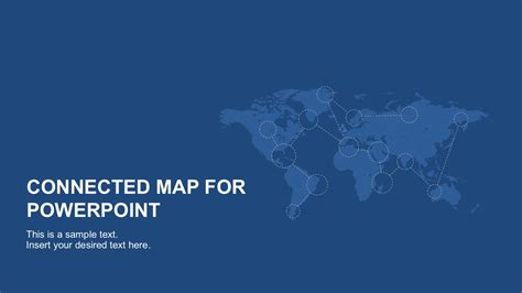 powerpoint map templates connected map powerpoint template