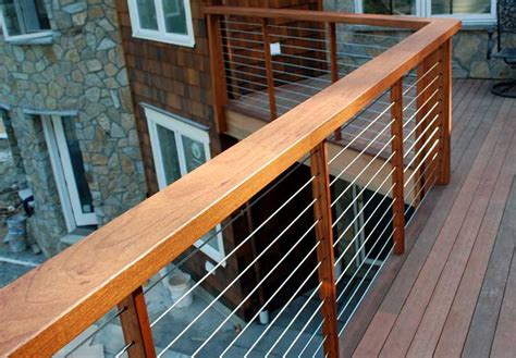cable deck railing systems home design ideas