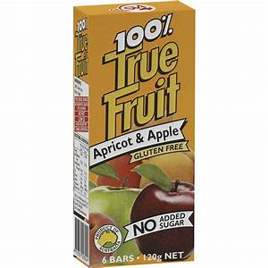 True Fruit Bars Apricot Apple Bar 6pk
