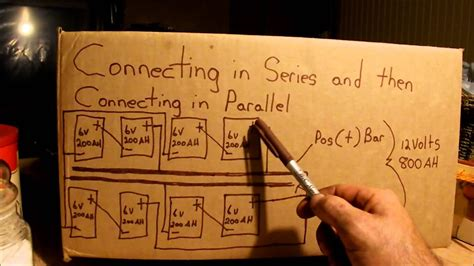 Connecting Batteries Series Then Parallel Youtube