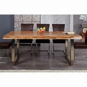 Table design AKAZIO bois Achat/Vente table salle a manger pas cher Couleur et design fr