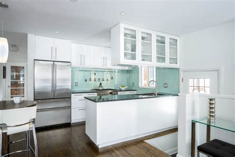 kitchen furniture designs for small kitchen best small kitchens with modern green subway tile