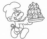 Coloring Smurf Smurfs Baker Pages Bakery Mushroom Printable Drawing Smurfette Getcolorings Random Getdrawings sketch template