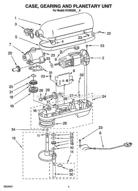kitchen aid replacement parts kitchenaid kv25g0xww4 parts list and diagram