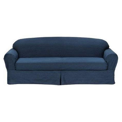 Sofa And Loveseat Slipcovers by All Cotton Blue Denim 2 Sofa Loveseat Slipcover Cove
