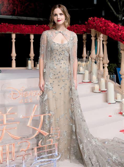 Emma Watson Beauty The Beast Press Tour Style Streak