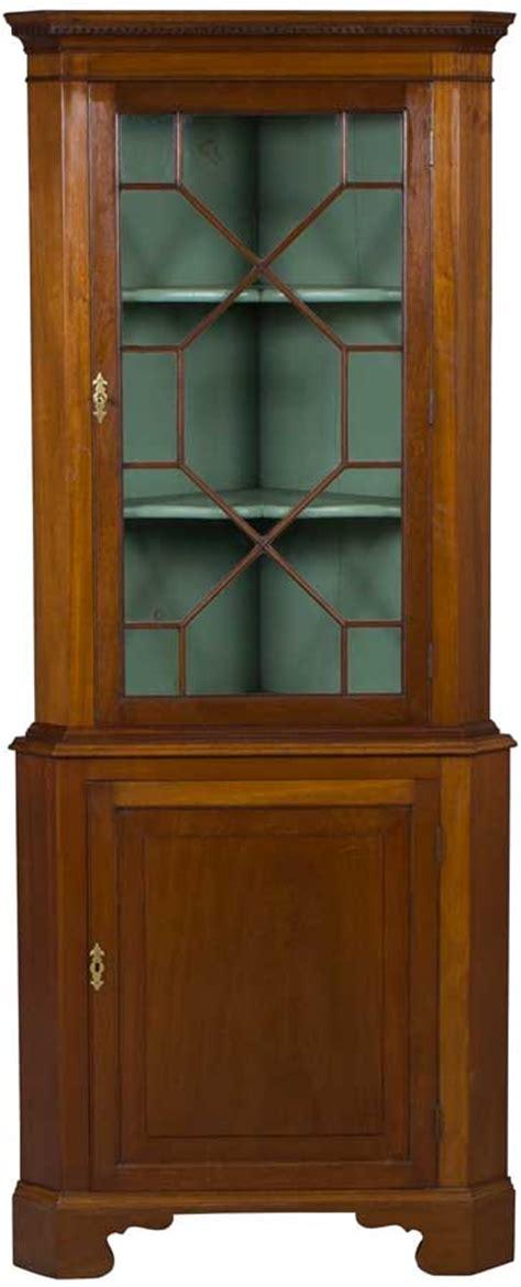 antique corner cabinet  mahogany wood