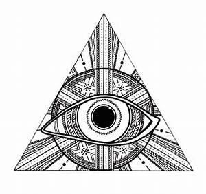 Third Eye Triangle Sticker   3 00  Via Etsy