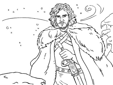 of thrones coloring pages of thrones colouring in page snow colouring