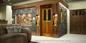 Kerala, Style, Pooja, Room, Interior, Designs