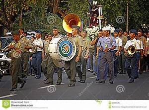 Members Of A Brass Band Show Their Repertoire To The ...