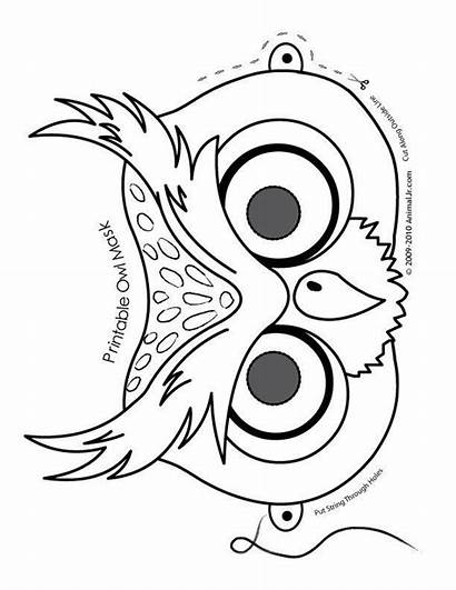 Mask Owl Printable Halloween Masks Coloring Pages