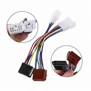 Iso Car Radio Wiring Harness Adapter Plug Cable For Toyota