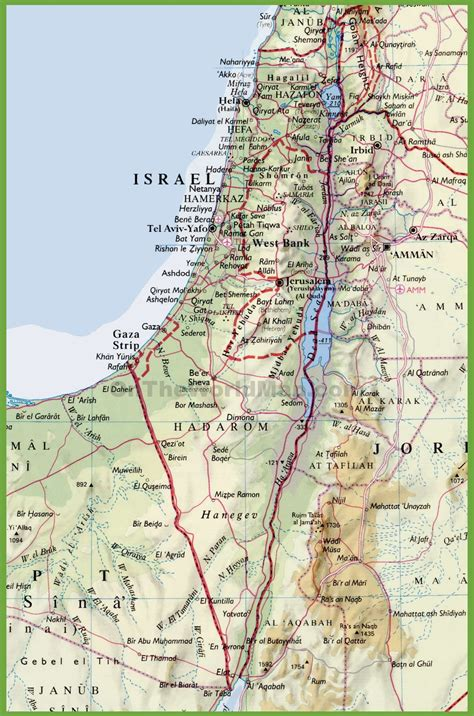 detailed israel map