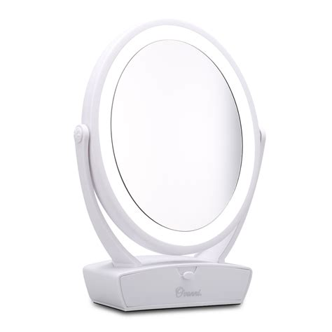 Lighted Magnifying Makeup Mirror by Sided Led Lighted Vanity Cosmetic Makeup Mirror