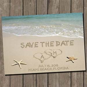 save the date wedding save the dates and dates on pinterest With beach wedding save the date ideas