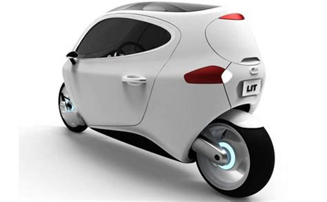 Lit Motors C-1 Two Wheeled Electric Car Gets A Little Push