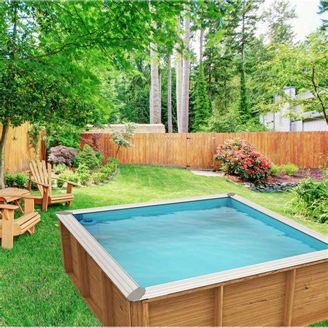 piscine hors sol bois pistoche l 2 26 x l 2 26 x h 0 67 m leroy merlin