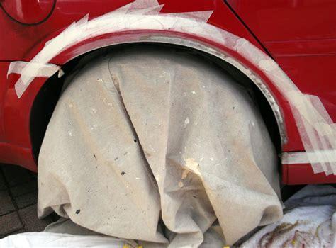 repair wheel arch paint pots dirty
