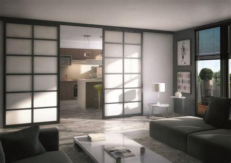 rideau chambre installation de portes de séparation en panneaux japonais